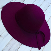 A Fall Floppy Hat in Wine