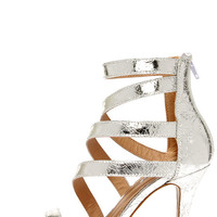 Fairy Tale Ending Silver High Heel Sandals