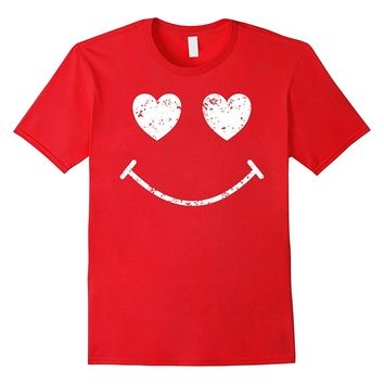 Love Makes Me Smile Funny Cute Valentines Day T Shirt