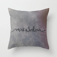 Makebelieve Throw Pillow by Galaxy Eyes | Society6