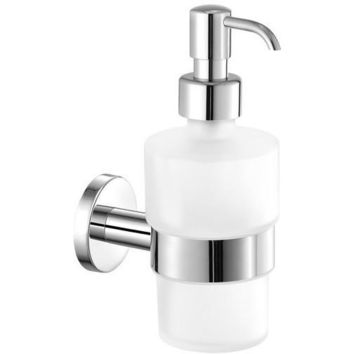 SCBA Ergon Wall Mounted Frosted Glass Pump Soap Lotion Dispenser Bath or Kitchen