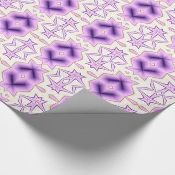 Pink and purple pattern with chevron elements. wrapping paper