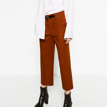 FRONT BUCKLE TROUSERS