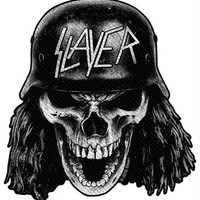 Slayer Sew On Patch Wehrmacht Skull Logo