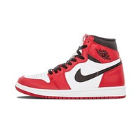 Original Nike Air Jordan 1 Retro High OG Chicago Breathable Basketball Shoes Sports Sneakers Trainers 575441-101