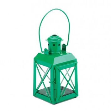 Colored Railway Lantern Candle Holders