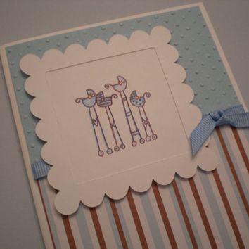 New Baby Boy Card/Baby Announcement Card/Baby by thingsbyjuju