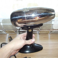 Vintage 50s Silver Bullet Oster Airjet Hair Dryer ATOMIC Chrome Boudoir Electric Blow Dryer WORKS