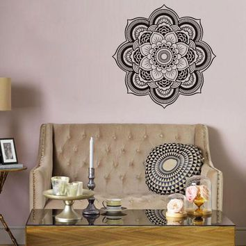 Waterproof Flower Shape Mandala Art Wall Sticker [9357009412]