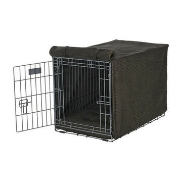MicroCord Luxury Dog Crate Cover — Coffee