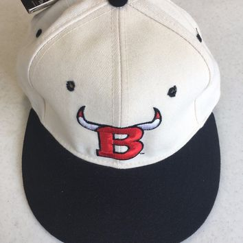 NWT RETRO CHICAGO BULLS WHITE FRONT NEW ERA 5950 BLACK BRIM FITTED HAT