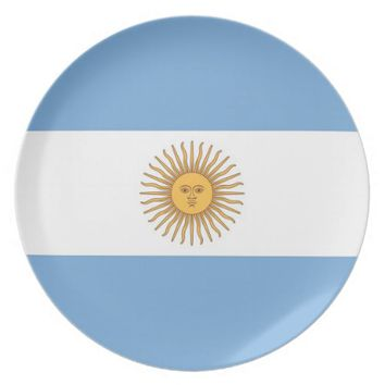 Argentinian Flag Plate