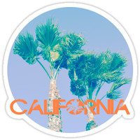'California Palm Trees' Sticker by Carissariley