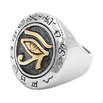 Egyptian Eye Of Horus Symbols Ring