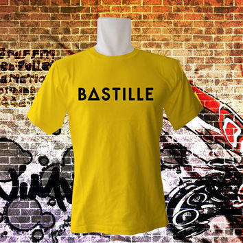 Bastille band shirt indie rock band logo printed parody for Men T Shirt - All Color Variable - All Size T Shirt - Cotton T Shirt