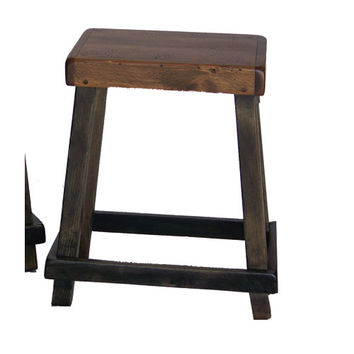2-Day Designs 123S-009-007 Noir Chef Counter Stool with Caramel Seat