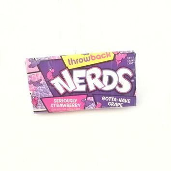 Purple Women's Card Wallet, Nerds Candy Duct Tape Wallets for Women