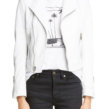 Saint Laurent Leather Moto Jacket | Nordstrom
