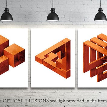 Optical Illusion - Large - 5 sizes - Printable Digital Download - Wall Office, Dorm, Home Decor, Poster, Card Making, Gift Idea - CP-849