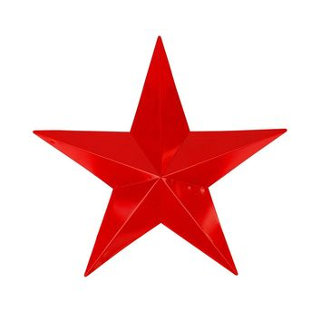 "24"" Scarlet Red Country Rustic Star Indoor/Outdoor Wall Decoration"