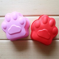 Cat Paw Print Bakeware Silicone Mould Chocolate Cookie Wax Mold Cake Decorating Tools