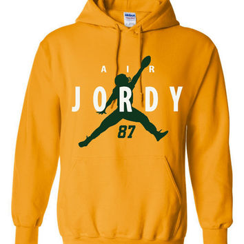 Air Jordy Great Packers Fan Green Bay Fan Hoodie Super Bowl Bound Packers Sweatshirt Unisex Green Bay Hoodie Gold