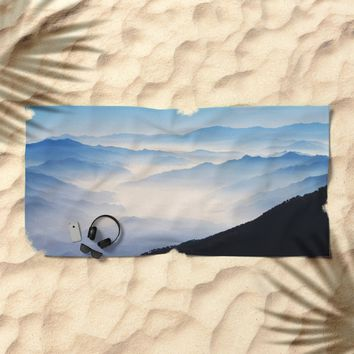 Inhale Beach Towel by Mixed Imagery