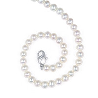 Honora Sterling Silver 6-7mm 18 Inch Classic Freshwater Cultured White Pearl Necklace