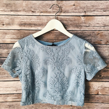 Sky Blue Lace Top
