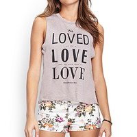 FOREVER 21 Floral Denim Shorts Cream/Multi
