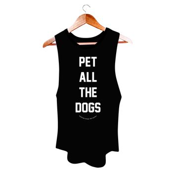 Pet All The Dogs | Womens Sleeveless