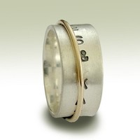 Promise band Sterling silver stamped band with by artisanlook