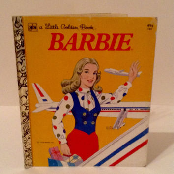 Barbie a Little Golden Book, Vintage Barbie book, Barbie 1974, Childrens Book, Collectors Book, Golden Press, Western Publishing Company