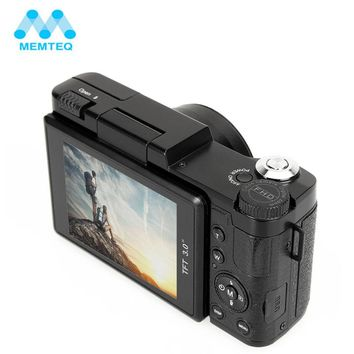 "MEMTEQ 3"" TFT LCD Full HD 24MP Digital Camera Video 1080P Camcorder CMOS Video Lens  + Filter Mini Digital Camera"