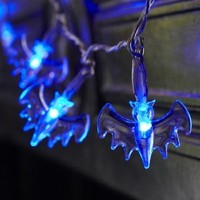 Domire Battery Operated LED Fairy String Lights 20 Blue Bat Lights Halloween Decoration Lights