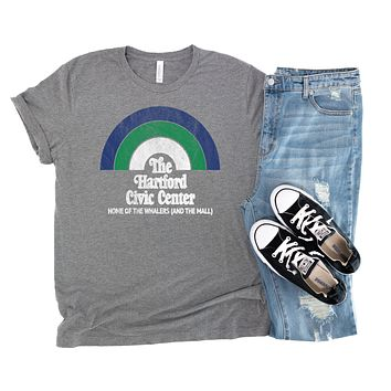 Retro The Hartford Civic Center Unisex Jersey Short Sleeve Tee