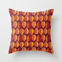 Fall Colors Throw Pillow by ChunkyDesign