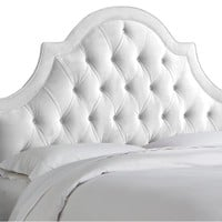 Harvey Tufted Headboard, White Velvet