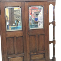 Antique Window Mirror Jharokha Spanish Style Decor Teak Rustic Eclectic Furniture 19c FREE SHIP