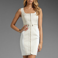 Black Halo Gable Colorblocked Dress in Antique White from REVOLVEclothing.com