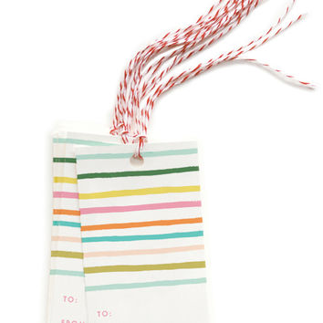 Happy Stripe Gift Tags