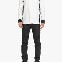 Balmain - Two-tone cotton slim-fit shirt - Men's shirts