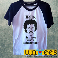 Lionel Richie Hello Is It Tees You are Looking For Short Raglan Sleeves T-shirt