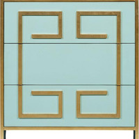 Melea Markell Turquoise Bedside Commode