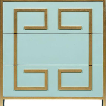 MELEA MARKELLl Turquoise Bedside Commode