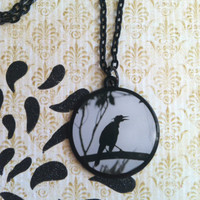 Dark Necklace Crow on a Branch