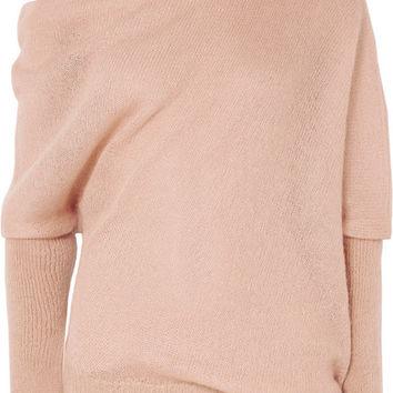 TOM FORD - Off-the-shoulder cashmere and silk-blend sweater