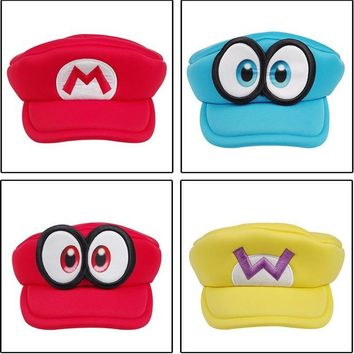 Super Mario party nes switch  Odyssey Game Big Eyes Cappy Hats Cartoon Japanese Anime Cosplay Halloween Party Hats Adults Kids Sponge Soft BOOCRE AT_80_8
