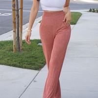 Encore Ribbed Pant- ORANGE