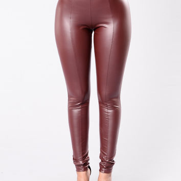Reunited Leggings - Wine